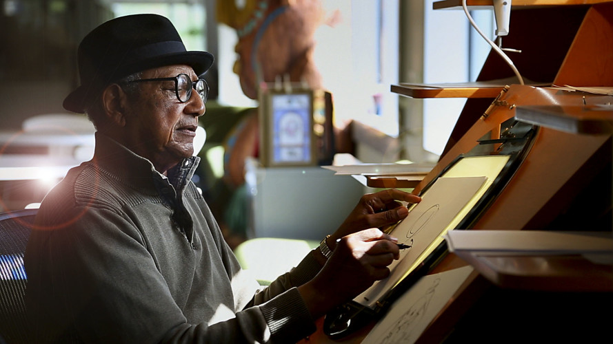 "Floyd Norman,  the first African American animator at Disney, will speak  following a screening of the documentary, ""Floyd Norman: An Animated Life,"" at 7 p.m. Wednesday at the Alamo Drafthouse Cinema in Winchester. Courtesy photo"