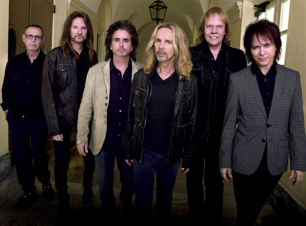 """Styx will be performing Sept. 1 at this year's Shenandoah County Fair.  Band members are, from left: Chuck Panozzo, Ricky Phillips, Todd Sucherman, Tommy Shaw, James """"J.Y."""" Young and Lawrence Gowan.  Photo by Rick Diamond/Getty Images for STYX"""