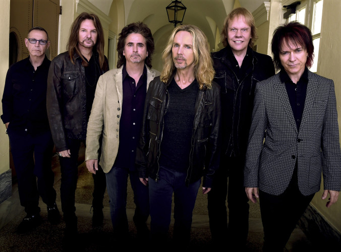 "Styx will be performing Sept. 1 at this year's Shenandoah County Fair.  Band members are, from left: Chuck Panozzo, Ricky Phillips, Todd Sucherman, Tommy Shaw, James ""J.Y."" Young and Lawrence Gowan.  Photo by Rick Diamond/Getty Images for STYX"