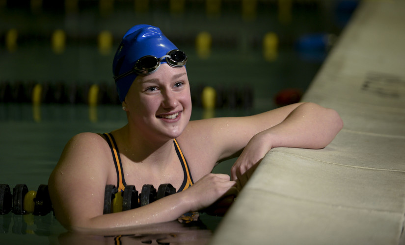 Central High School junior Ashley Funkhouser, who won two Virginia High School League Group 2A state titles this winter, is the Northern Virginia Daily's 2017 Girls Swimmer of the Year.  Rich Cooley/Daily