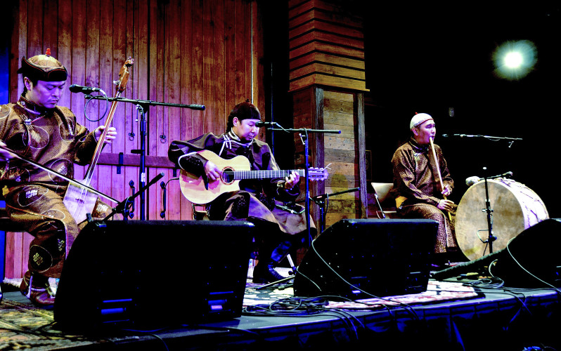 Alash Ensemble performs at Barns of Rose Hill in Berryville. Photo courtesy Michael Hobert