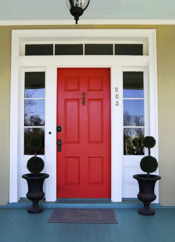 Simple An easy way to add a burst of color to any home is to update the front door color Ashley Miller Daily Photos - Unique outside door paint Picture