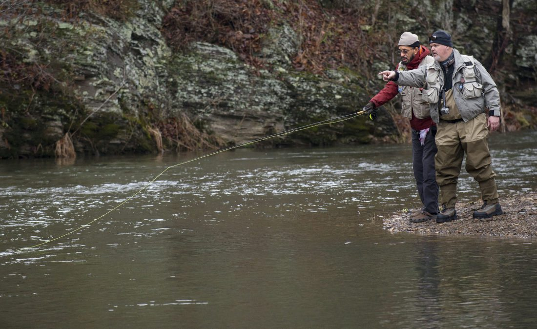 Project healing waters disabled veterans test their for Healing waters fly fishing
