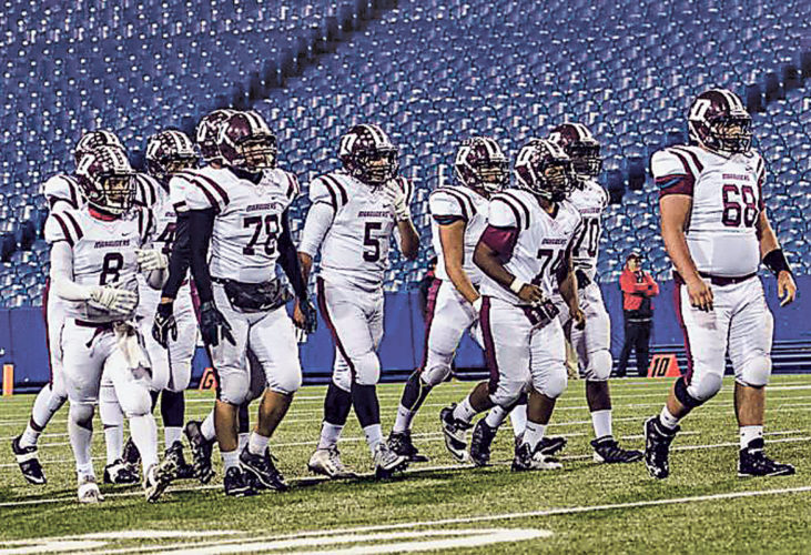 OBSERVERFile Photo TheDunkirkMarauders have climbed up the New York State Sportswriters Association Class B football poll. After eight straight wins, the Marauders are now the No. 7 ranked team in the state.