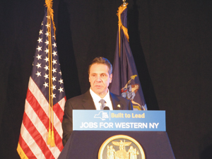 State Gov. Andrew Cuomo made a major announcement in Dunkirk on Feb. 11.