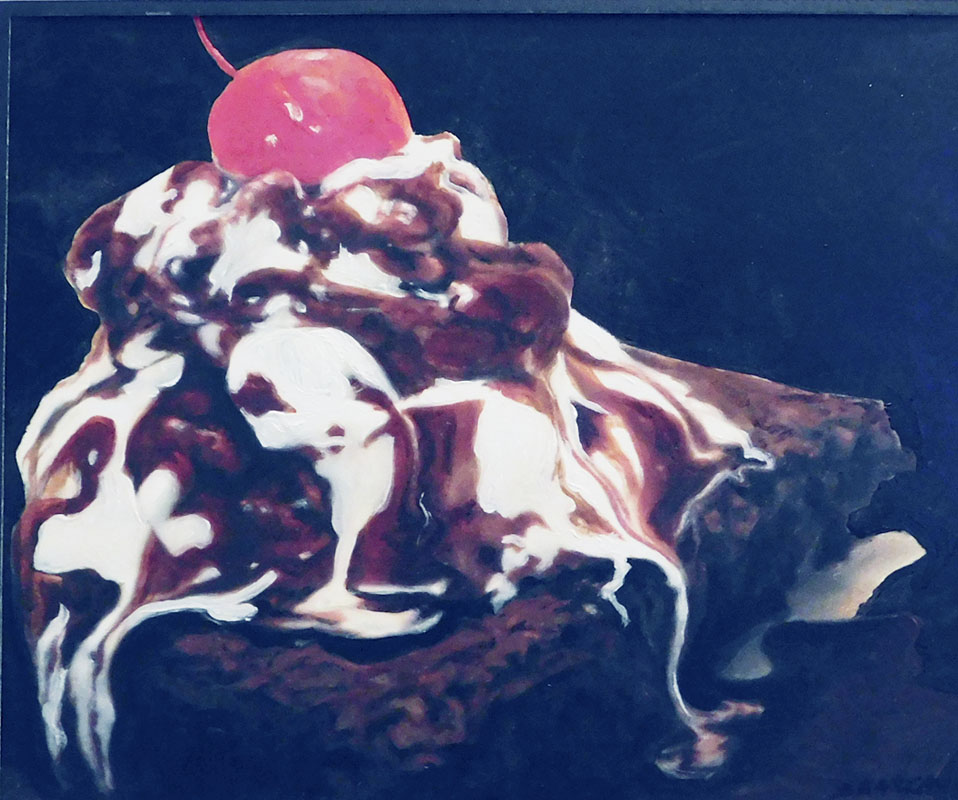 "An oil painting titled ""Choco Brownie"" by Susan Forrester-Mackay"