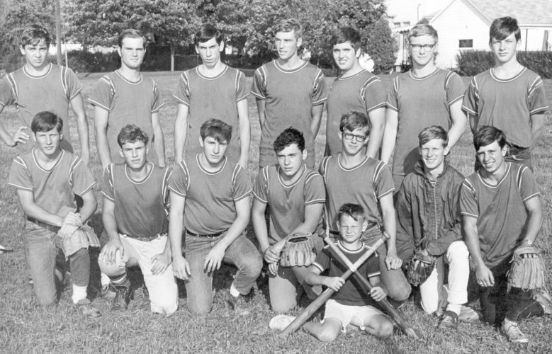 Submitted Photo Pictured is the 1968 Dunkirk Recreation League Class B Fastpitch softball championship Snyder Realty team. In front is bat boy Mike Dudek. First row from left: Chuck Dudek, Jim Ostrye, Jim McGraw, Jerry Falco, Gib Snyder, Jack Anderson and Tom Ronan. Back row: Dave Szczerbacki, Tom Jakubiec, Ang Terese, Fritz Koch, Tom Murray, Bill Hammond and Mike Flynn.