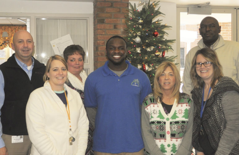 Submitted Photo Members of the Employee of the Month Team at G.A. Family Services congratulate Maceo Wofford on being selected as the G.A. 2016 Employee of the Year. Left to right: Timothy McMullen, Interim Director of Education, Kimberly Breneman, Maceo Wofford, Liz Lobb, Donna Ciancio, Betsy Woleen and Karl Wiggins, Vice President of G.A. Family Services.