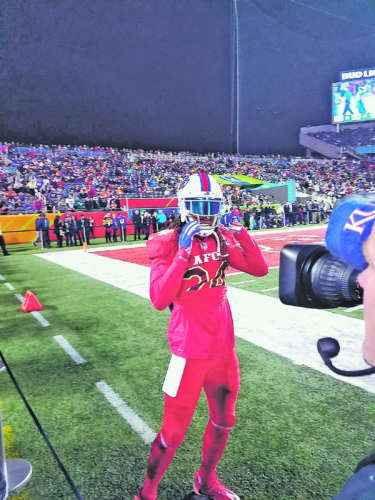 Submitted Photo Pictured is Buffalo Bills cornerback Stephon Gilmore. Dunkirk varsity football coach Mike Sarratori took this picture while in Orlando for the Pro Bowl.