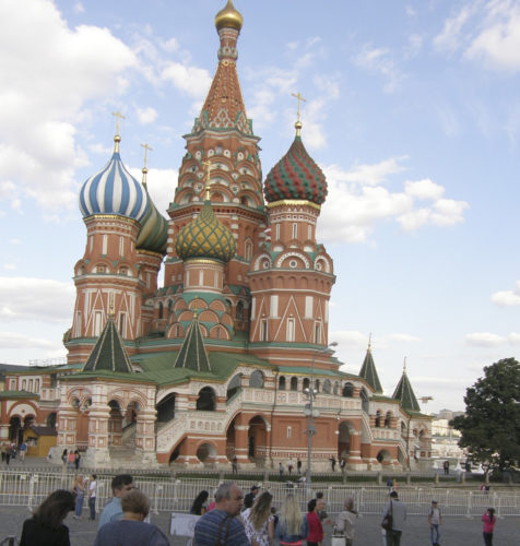Submitted Photo Pictured is St. Basil's on the Red Square in Moscow.