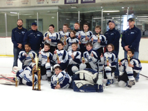 Submitted Photo The NCCYHA Steelers Pee Wee Travel team recently won the Garfield Heights Hockey Tournament.