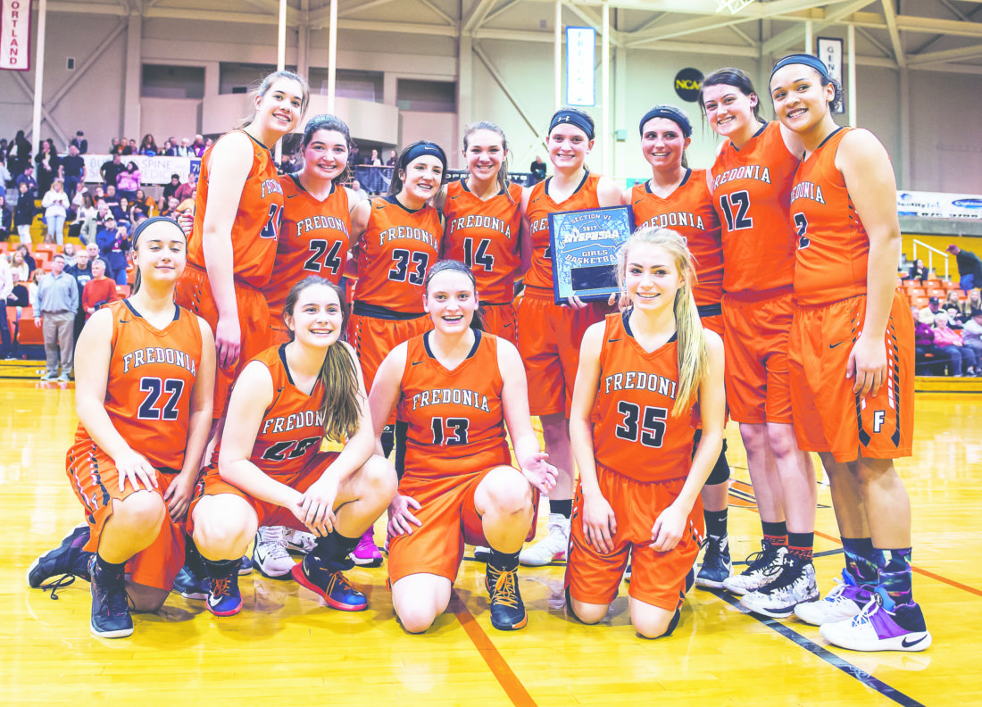 OBSERVER File Photo: Pictured are the Fredonia Lady Hillbillies after earning a trip to the Far West Regional. Today, at 11:45 a.m. in Troy, Fredonia battles for a spot in the Class B final.