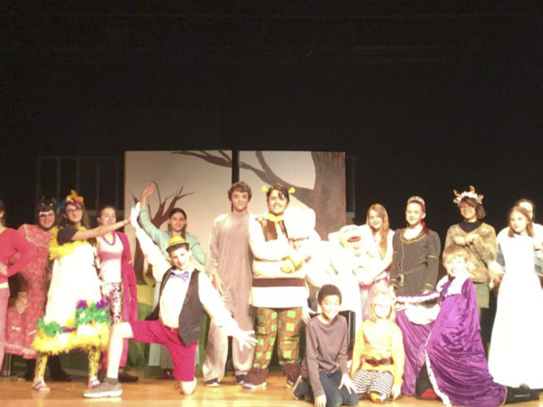 "Submitted Photo: Pictured is the cast of ""Shrek the Musical, Jr."""