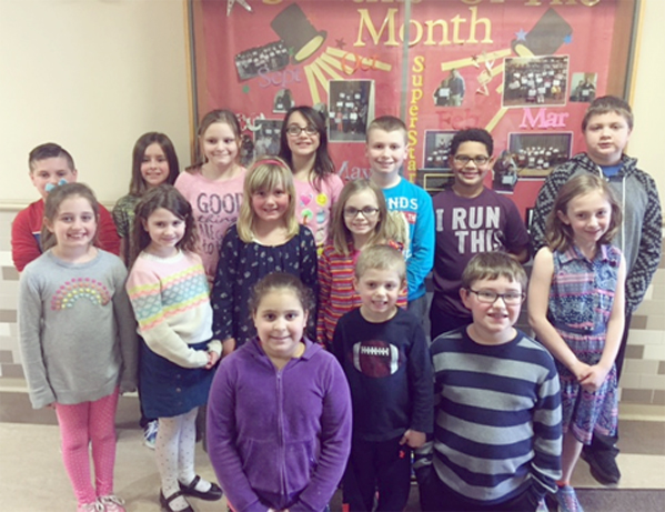 Submitted Photo Pictured are Dunkirk School 7 students who participated in the school's recent Mathathon. First row from left: Anisys Rosa-Cruz, Matthew Dolce and Rogan Pencek. Middle row: Maria Dolce, Gracey Kozlowski, Edalee Naiszewski, Bobbe Cobbe and Madison LaDue. Back row: Gabe Valentine, Rylin Pencek, Aleah Dloniak-Kucmierz, Brooke Szymczak, Robert Kozlowski, Jayden Kenner and Jared Sek.