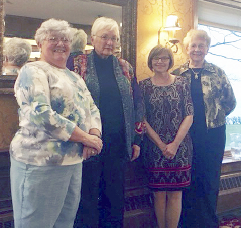 Submitted Photo Officers of the Bud 'n Bloom Garden Club for 2017 were installed at the annual banquet held at Shorewood Country Club. Left  to right: Janet Centner, president; Penelope Deakin, vice president; Sue Drag, treasurer; and Judy Kawski, secretary.