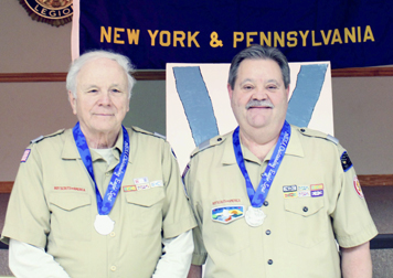 Submitted Photo Ed Ahrens (left) and John Wojciechowicz recently received the Outstanding Eagle Scout Award.
