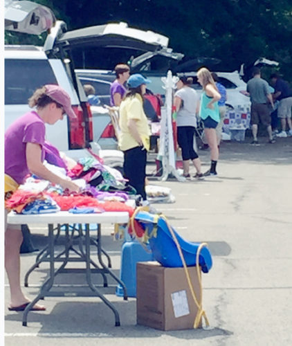 Submitted Photo Buyers and sellers at the first annual WCA Home Trunk Sale held on the SUNY  Fredonia campus.