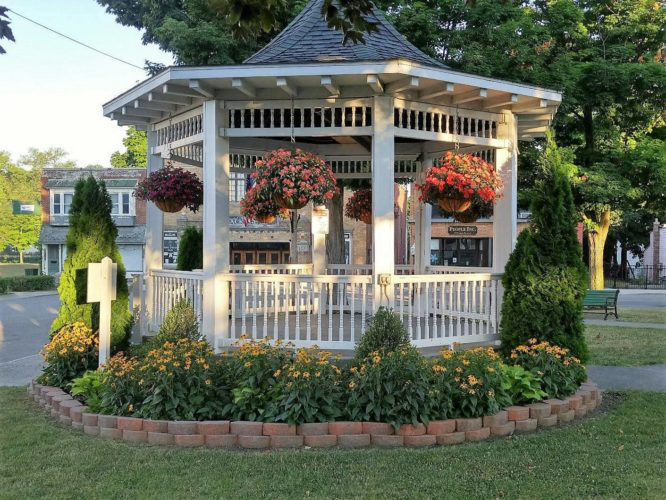 Submitted Photo The Silver Creek Hanover Garden Club will hold its seventh annual Garden Faire and plant sale on Saturday, May 20 at the village park (Main Street and Central Avenue) in Silver Creek from 9 a.m. to 4 p.m. Pictured is the gazebo in the park.