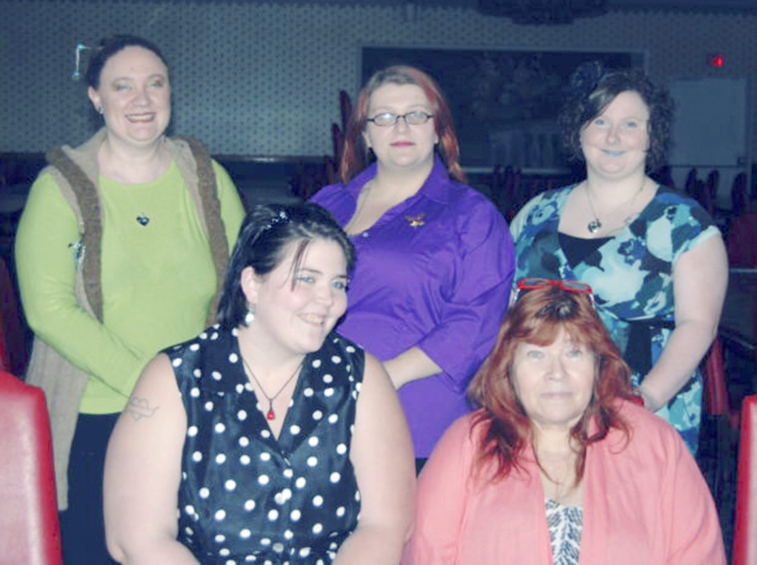 Submitted Photo: New officers for the Dunkirk Women of the Moose for the ensuing year have been elected for 2017-2018. The formal installation was held on Sunday, April 30. A social hour was held after the installation. Front row: Ruby Beaman, Activities/Sports chairman; Pamela Miller, Junior Graduate Regent. Back Row: Heather Barone, secretary/treasurer; Emily Pokoj, Senior Regent; Sueretta Emke, Junior Regent.