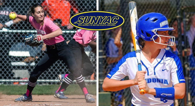 Submitted Photo: Pictured are All-SUNYAC selections Katie Yudin, left, and Lauren Pixley.