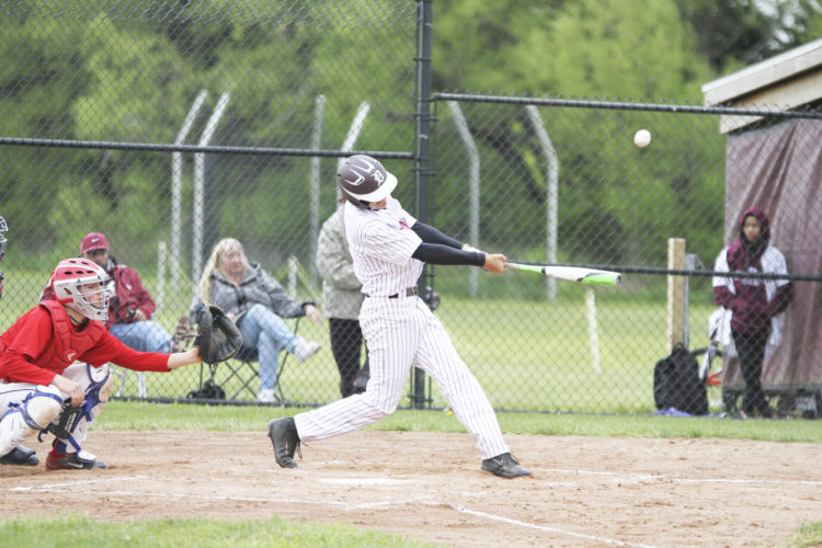 OBSERVER Photo by Mary Ann Wiberg: Dunkirk's Jared Glowniak takes a cut during the Marauders' game against Southwestern Thursday.