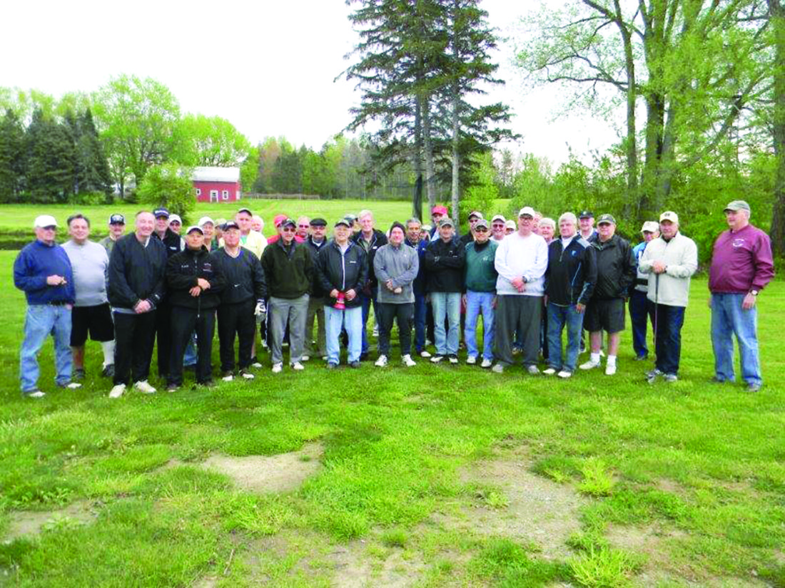 Submitted Photo: The Gene Andolina League began its 23rd season Friday. It has grown to 21, two-man  teams. They are playing once again at the Vineyard's Golf Course on Berry Road in Fredonia.