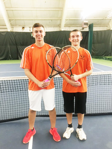 Submitted Photo Fredonia's Matt Burr, left, and Neil Gens earned trips to the Section VI tennis singles tournament to be held Monday via their wins during the County tournament Wednesday.