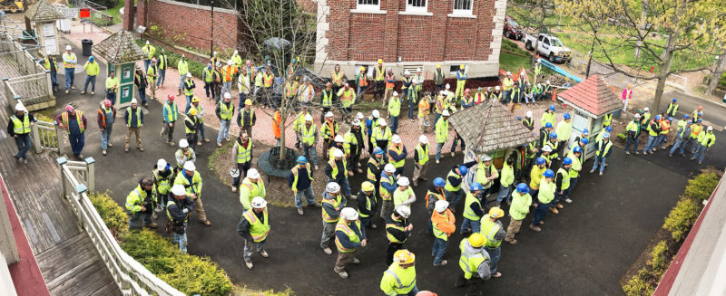 Submitted Photo LPCiminelli joined National Safety Stand-Down Initiative, provides safety training to Chautauqua Amphitheater Workers.