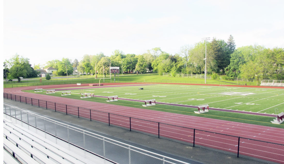 OBSERVER Photo by Jeremy Izzio: Pictured is Dunkirk High School's track, which will be the scene for the County track and field meet beginning today and running through Saturday.