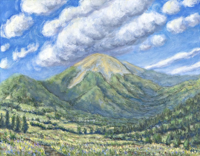 "Submitted Photo ""View of Mount Baldy"" oil on canvas by Tom Annear."