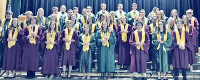 Submitted Photo Pictured are members of the Lake Shore Senior High School National Honor Society.
