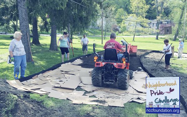 Submitted Photo Work is underway on the Lily Dale Community Butterfly Habitat Garden.