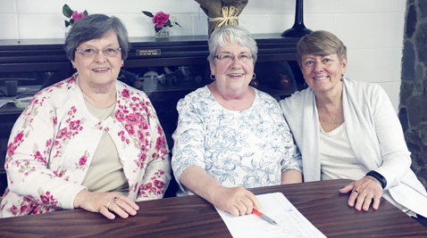 Submitted Photo: United Senior Council Trivia contest to celebrate Older American's Month was held at North Harmony Senior Center on May 11. The first place winners of $100 were the Mayville Misses from Mayville Senior Citizens.  Pictured from left are Sandi Wagner, Dianne Goodrich and Janet Loomis.
