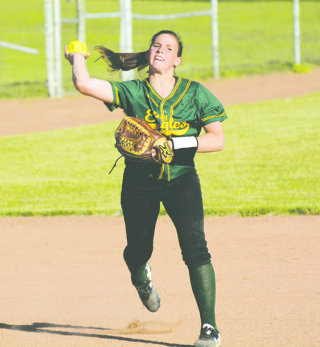 OBSERVER File Photo: Pictured is North Collins' shortstop Emily Winter making a play during last week's Far West Regional victory over Elba.
