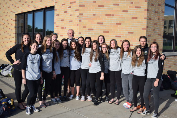 North Collins Softball takes one more photo outside the high school prior to leaving to Glens Falls for NYSPHSAA Final Four on Saturday.