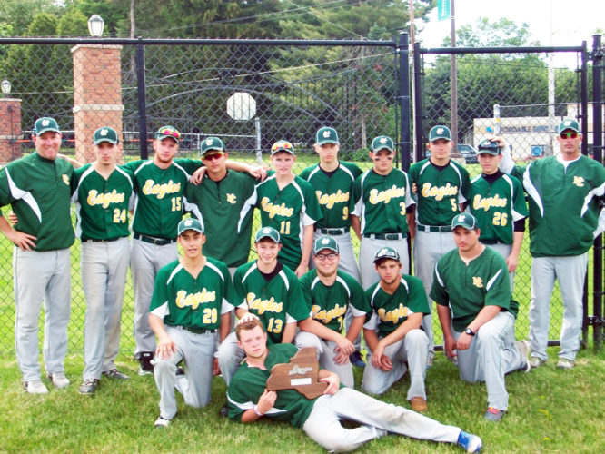 OBSERVER Photo by Jon Feniello Pictured are the North Collins Eagles at the New York State Public High School Athletic Association Class D baseball championships in Binghamton.
