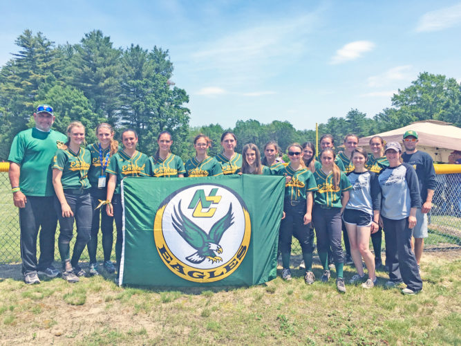 OBSERVER Photo by Andrew Kuczkowski Pictured are the North Collins Lady Eagles at Saturday's New York State Public High School Athletic Association Class D softball semifinals.