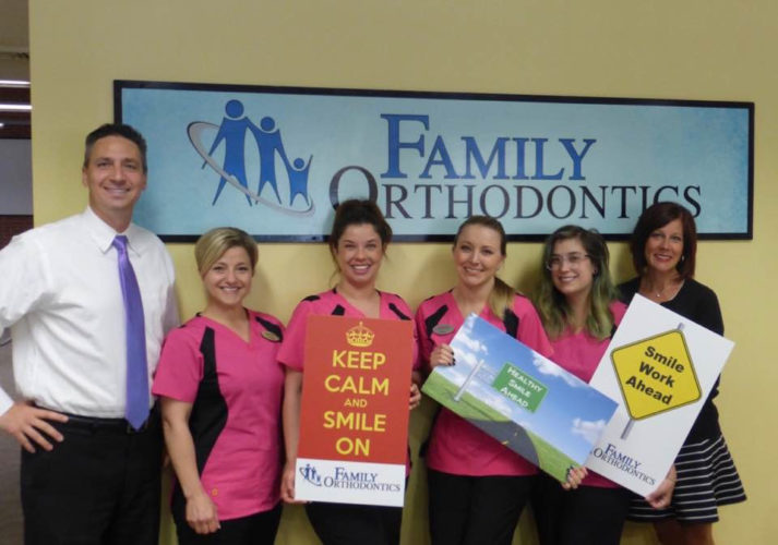 Submitted Photo Pictured are members of Family Orthodontics in Fredonia.