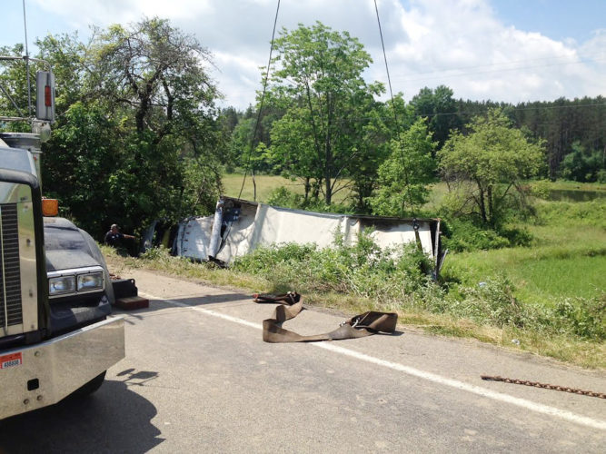 Photo submitted by the New York State Police Charges are pending after an accident was caused by a driver allegedly falling asleep.