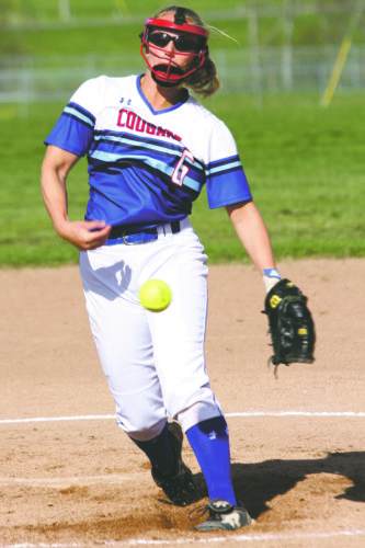 OBSERVER File Photo Pictured is Cassadaga Valley's Alyssa Hahn, who recently received Pitcher of the Year honors for her efforts during the Chautauqua-Cattaraugus Athletic Association's 2017 season.
