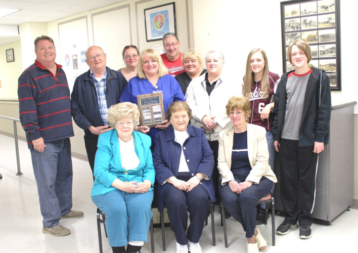 Submitted Photo Pictured is the Kozlowski/Beehler family. Laura Beehler was presented with the Carol A. Kozlowski Nurse of Distinction Award. Pictured in front, from left, are Sandra Tapasto, Elizabeth Kozlowski and Brenda Beehler. In the middle row are Davis Beehler, Gerald Kozlowski, Laura Beehler, Lisa Kozlowski, Beth Kozlowski, Jessica Beehler and James Beehler. In back are  Allison Kozlowski and Larry Klajbor.