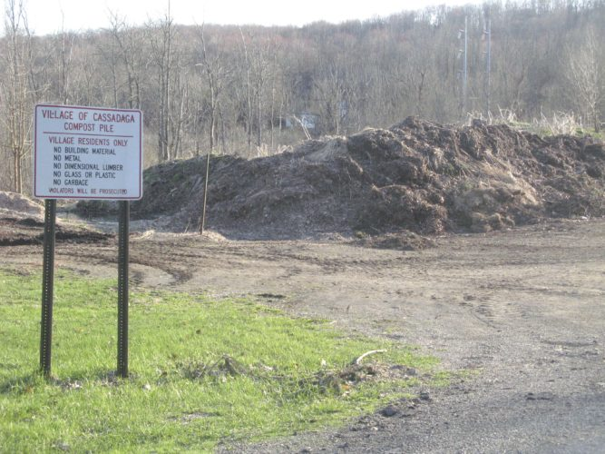 OBSERVER File Photo. The Cassadaga compost pile is just that — the Cassadaga compost pile, meaning that anyone outside the village, no matter how close to the dividing line, is not allowed to leave their materials there.