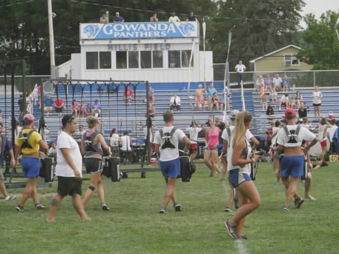 Submitted Photos: The Crossmen Drum & Bugle Corps from San Antonio, Texas made a promotional tour stop in Gowanda on Thursday, a day earlier than previously announced.