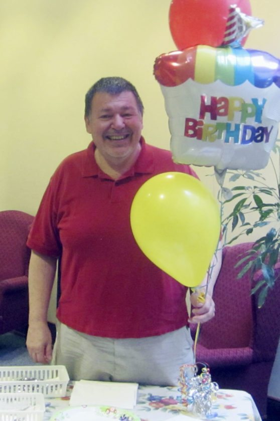 Submitted Photo: On Thursday, June 29, the Reverend Joe Walter, pastor of St. Joseph Church in Fredonia (and St. Anthony Church in Fredonia), celebrated his birthday after celebrating morning Mass in the chapel. Parishioners and friends joined him for doughnuts, fruit, and breakfast pizza.