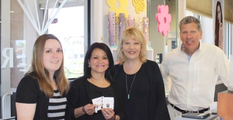 Submitted Photo Kirk's Jewelers recently hosted a Charmed by Charity Event benefiting the Lakeshore Humane Society. All ALEX AND ANI purchases on the day of the event helped support our local humane society. Pictured in the photo are Jessie Mekus LHS volunteer; Nancy York; Sharon Frey, Event Coordinator; and Kirk Frey, owner. Missing from photo is Lynn Lamattina, LHS volunteer.