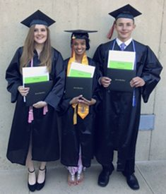 Submitted Photo From left: Fredonia High School graduates Kaelyn Hadley, Sydney Swan and Jacob Lesswing each received a Fredonia Central School Education Assistance Fund scholarship.