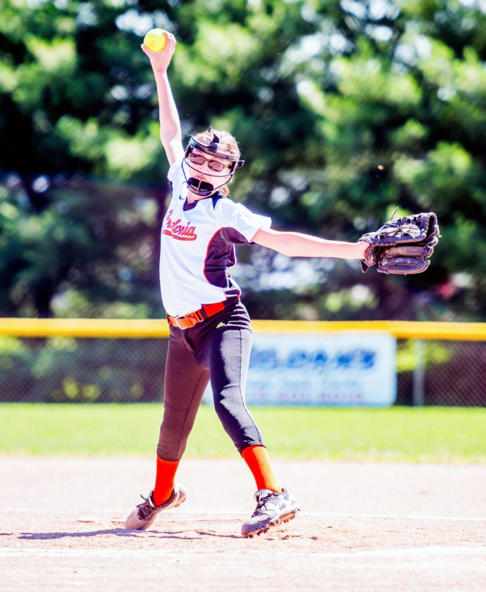 OBSERVER File Photo Pictured is Fredonia's Rebecca Piede, who will get the start today for Fredonia in the 10-12 year old Little League New York state tournament held in Fishkill.