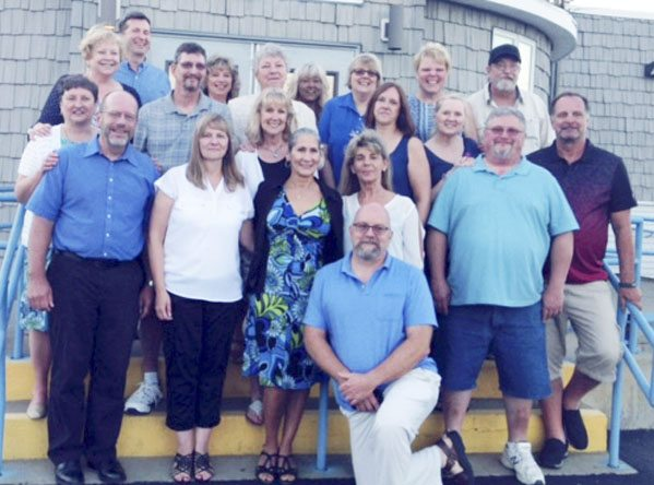Submitted Photo:  The St. Hyacinth School Class of 1972 met the first weekend of July to celebrate its 45th year since graduation, and also many years of friendship. A casual get together was held Friday, June 30 at the Conservation Club in Dunkirk and on Saturday, July 1 the class, along with its eighth grade teacher, Sister Susanne, attended 4 p.m. Mass at Blessed Mary Angela Parish, St. Hyacinth worship site, and continued the festivities again following Mass at the Conservation Club for dinner and dancing with music provided by Zen City. Classmates attended from Kingstree, South Carolina; Tucson, Arizona; Costa Mesa, California; Chicago, Illinois; and Owego, New York. Plans are to meet again in five years for a 50th reunion.