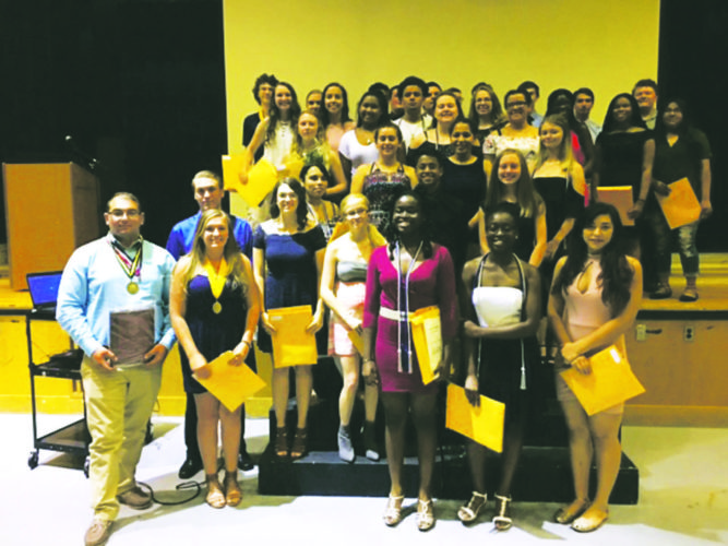Submitted Photo: Pictured above are all the all-academic award winners.