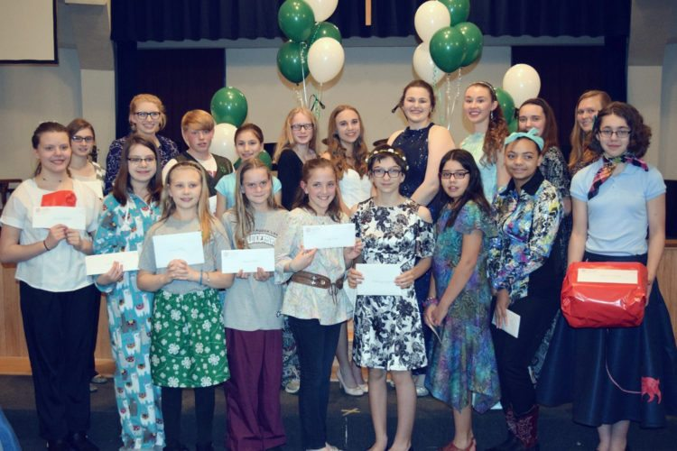 Submitted Photo Pictured are the outstanding sewers at the 2017 4-H Fashion Revue.